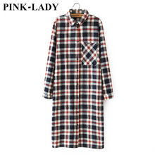 Female Autumn Clothing Fashion Plaids and Checks Long Cotton Blouses Shirts For Women Spring Fall Tops Blusas Feminina 9135