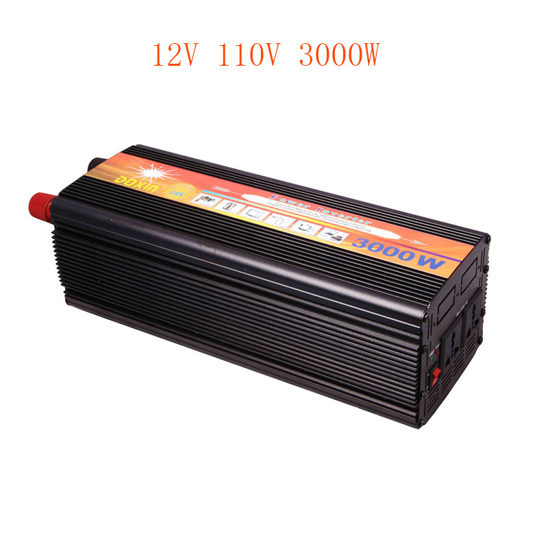 3000W DC 12V to AC 110V Car Modified sine wave Inverter Power Invertor Car dc into electricity equipment Fittings Selection USB(China (Mainland))