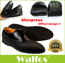 Walfos 2016 free shipping Fashion men and women shoes covers Waterproof Rubber galoshes for rainy day(China (Mainland))