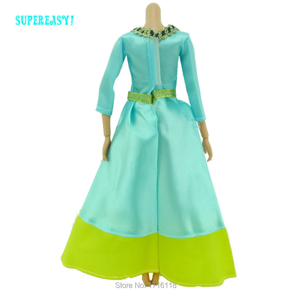 Fairy Story Princess Costume Copy Courageous Merida Cartoon Blue Unique Robe Outfit For Barbie Doll Garments Child Toys Reward