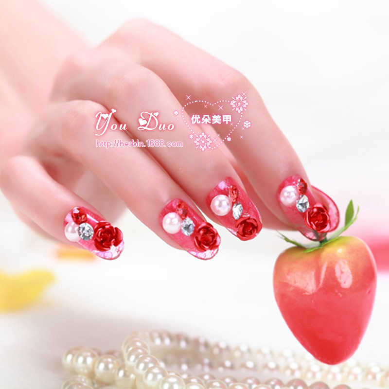 Fake nails 20pcs / Bag oval Plastic shaped nail on the stick head Manicure nail fake nails factoryZ-38