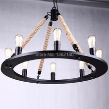 Black twisted cable  Unique American Style Pendant Light,Lantern Vintage country style Decoration Pendant Lamp/Lights free DHL(China (Mainland))
