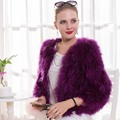 Real Ostrich Fur Shawls Natural Fur Wraps Women Evening Dress Solid Winter Fashion 100% Turkey Feather Pashmina Shawls Female