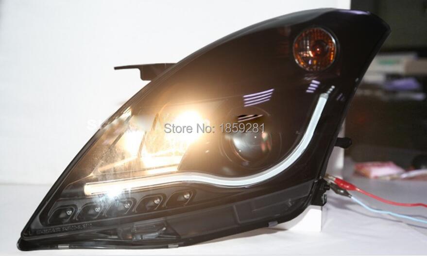 Suzuke swift headlight,2010~2015 (Fit for LHD),Free ship! swift fog light,2ps/se+2pcs Aozoom Ballast,SX 4,swift