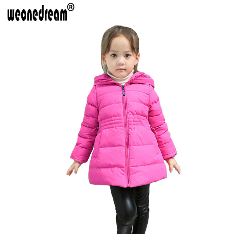 WEONEDREAM 2017 Winter Children Coat Baby Girls Jacket Long-Sleeved Baby Jacket Winter Warm Outerwear Casual Kids Girls Clothes