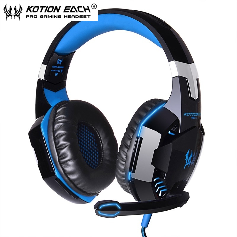 EACH G2000 Noise Cancelling Gaming Game Headphone Headset Deep Bass Surround Earphone With Micro Phone For Mobile Phone Computer(China (Mainland))