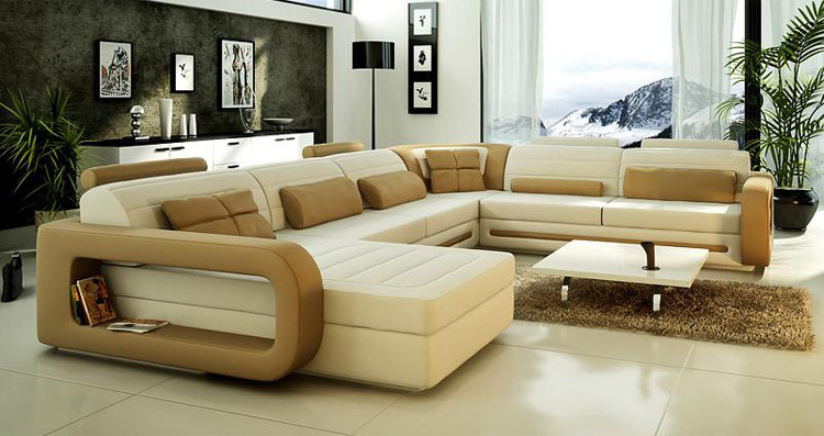 Sofa select furniture picture more detailed picture about 2015 lastest design u shape leather - Designs of sofa ...