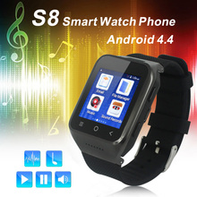 "ZGPAX S8 3G Android 4.4 Smart Watch Phone Smartwatch MTK6572 Dual Core 1.54"" Screen 512M 4GB Wifi Bluetooth 4.0 WCDMA GSM GPS"