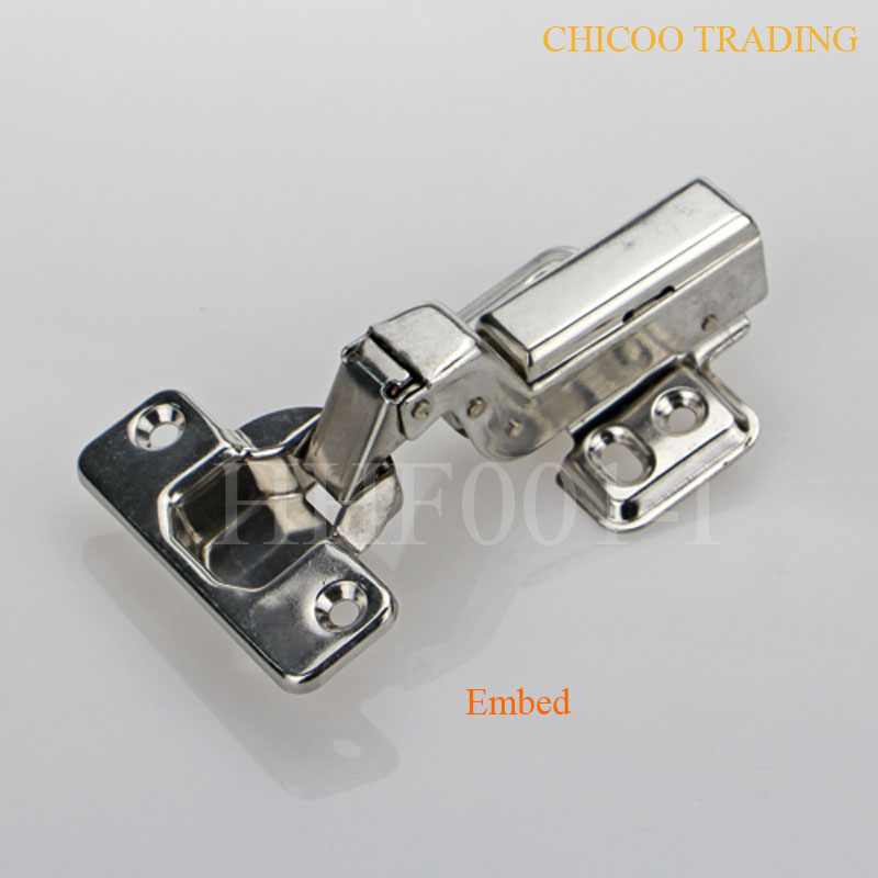 wholesale 50PIECES Stainless steel 304 kitchen cabinet furniture inset hinges Embed Hydraulic(China (Mainland))