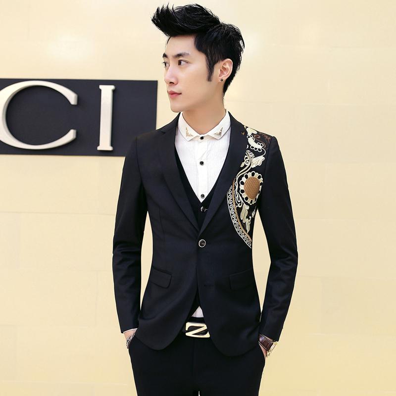 MenBlazer Designs W/ High Qulaity Embroidery Baroque Banque Wedding  Slim Fit Blazer Jacket Black SIng Breasted Blazer MasculinoОдежда и ак�е��уары<br><br><br>Aliexpress