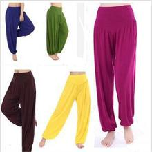 New 2014 Fashion Women Active Pants Elastic Waist Model Cotton Wide Leg Pants Trousers Women Summer Fall Loose Long Pants(China (Mainland))
