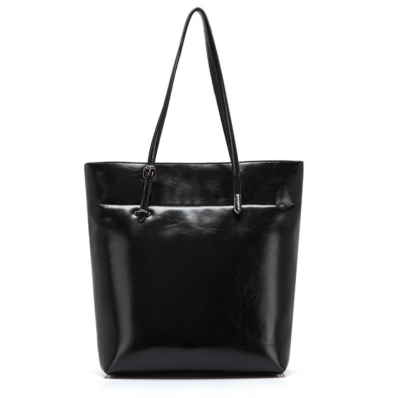 2015 New High quality genuine leather bag Women vintage Leather Handbag Messenger Shoulder Bag women Tote Lady Big Black BAG<br><br>Aliexpress