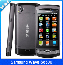 S8500 Original S8500 Wave Cell phones 3G 5MP Camera WiFi A-GPS Internal 2 GB MP3 Player Free Shipping Refurbished