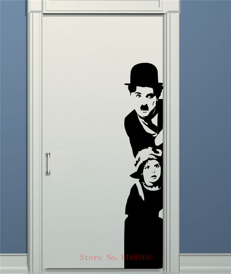 e647 charlie chaplin portrait the tramp adesivo muro. Black Bedroom Furniture Sets. Home Design Ideas