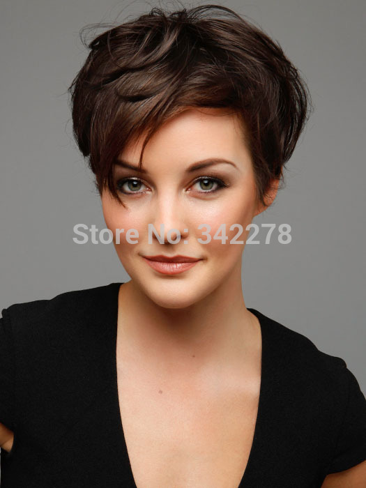 2015 New Chic Pixie Cut Hairstyle Synthetic Short Wavy