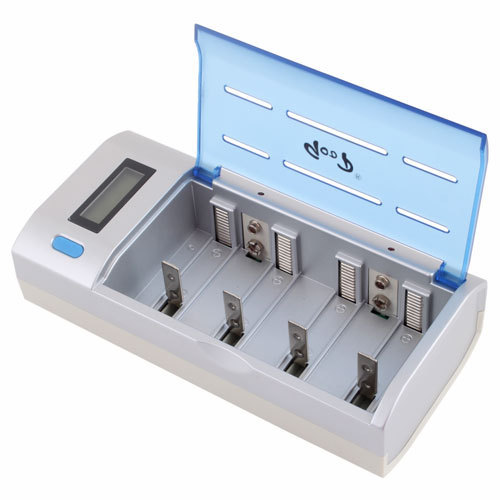 LCD Rechargeable Battery Charger AA AAA C D 9V Ni-Mh #6437
