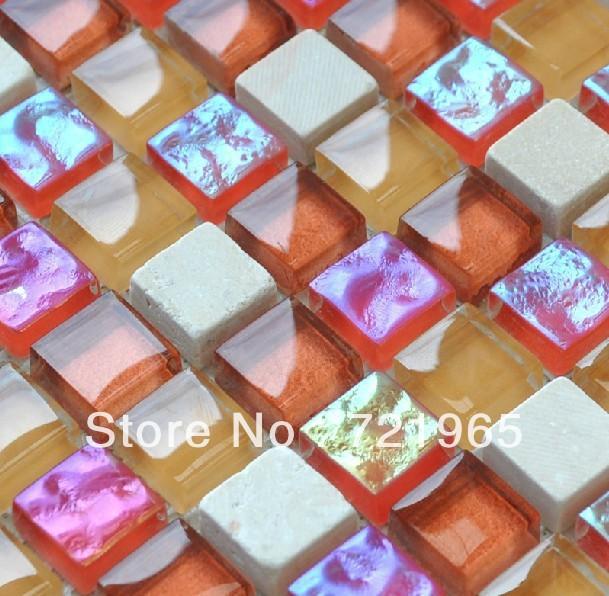 Design deco glass stone mosaic kitchen wall stone tile backsplash tile SGMT009 polished marble floor tile glass tile mosaic tile