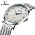 Readeel Brand Men s watches dress quartz watch men steel mesh strap quartz watch Ultra thin