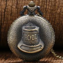 Buy Antique Watches Steampunk Hells Bell Pattern Icon Bronze Retro Quartz Pocket Watch Necklace Chain jewelry Watch men women for $3.19 in AliExpress store