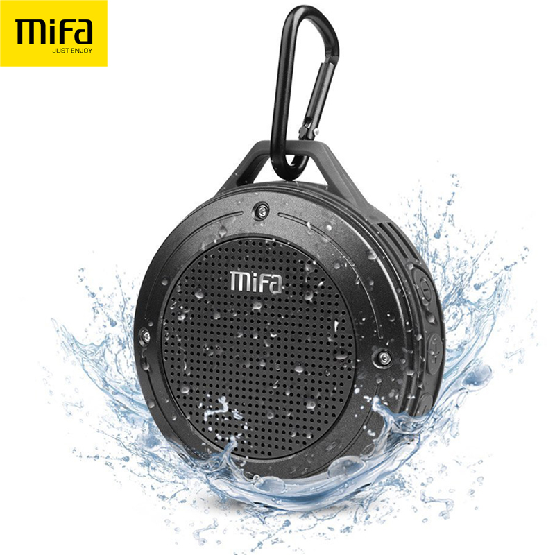 MIFA F10 Outdoor Wireless Bluetooth 4.0 Stereo Portable Speaker Built-in mic Shock Resistance IPX6 Waterproof Speaker with Bass(China (Mainland))