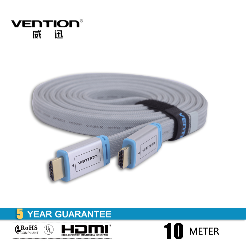 hdmi cable 10m blue braided flat HDMI cable 1.4V 1080P HD W/ Ethernet 3D FOR HDTV(China (Mainland))