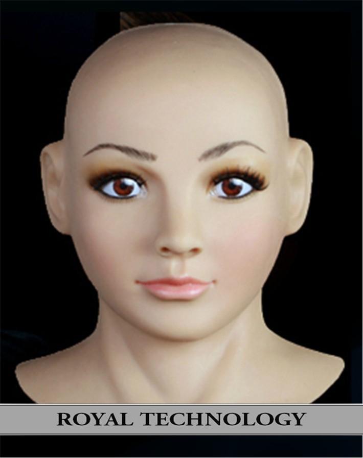 FR-4 real female mask transgender realistic latex masks masquerade disguise wumen crossdress game  -  Royal Material Technology Co., Ltd store