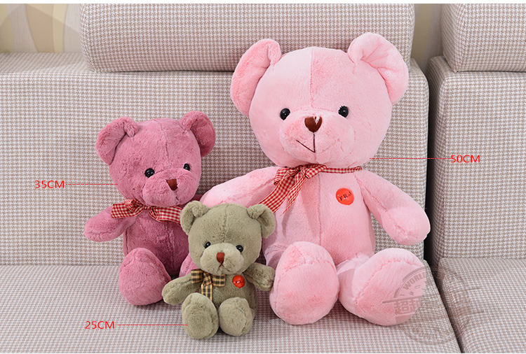 Lovely Teddy Plush Toy Baby Bear Gift Toy Doll New Arrival Cotton Hot Sale Free Shipping CY-Teddy(China (Mainland))