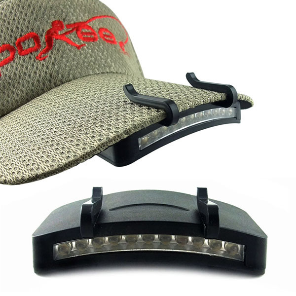 Best Price Fishing Camping Cycling Hiking LED Light Lamp Baseball Cap Clip on Headlamp New
