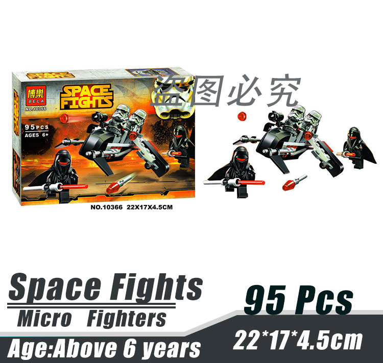 Bela 10366 Star Wars Micro Fighters Senate Assault Team Minifigures Building Block Minifigure Toys Compatible With