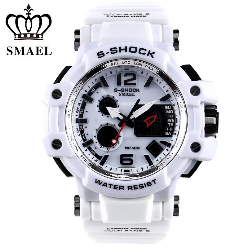 SMAEL Brand Men Sport Watches LED Digital watch men 50M Waterproof Casual quartz Watch Male Clock Men relogios masculino Gift(China (Mainland))