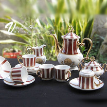 D angleterre coffee set gold tea and coffee with 15 set limited edition