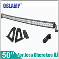 Oslamp For Jeep Cherokee XJ 84 01 Refitment 480W 50inch Curved Offroad Driving LED Light Bar