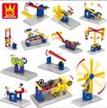 Educational Kids Toys Power Machinery Building Blocks Bricks Plastic Model Kits Compatible With Legoes DIY Toys