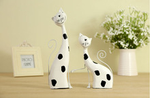 Modern ornaments handicraft decoration gifts wooden cat(China (Mainland))
