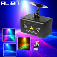 ALIEN Mini Remote RG Aurora Laser Light Projector Stage Lighting Effect RGB LED Party Dance Disco DJ Home Christmas Laser Light(China (Mainland))