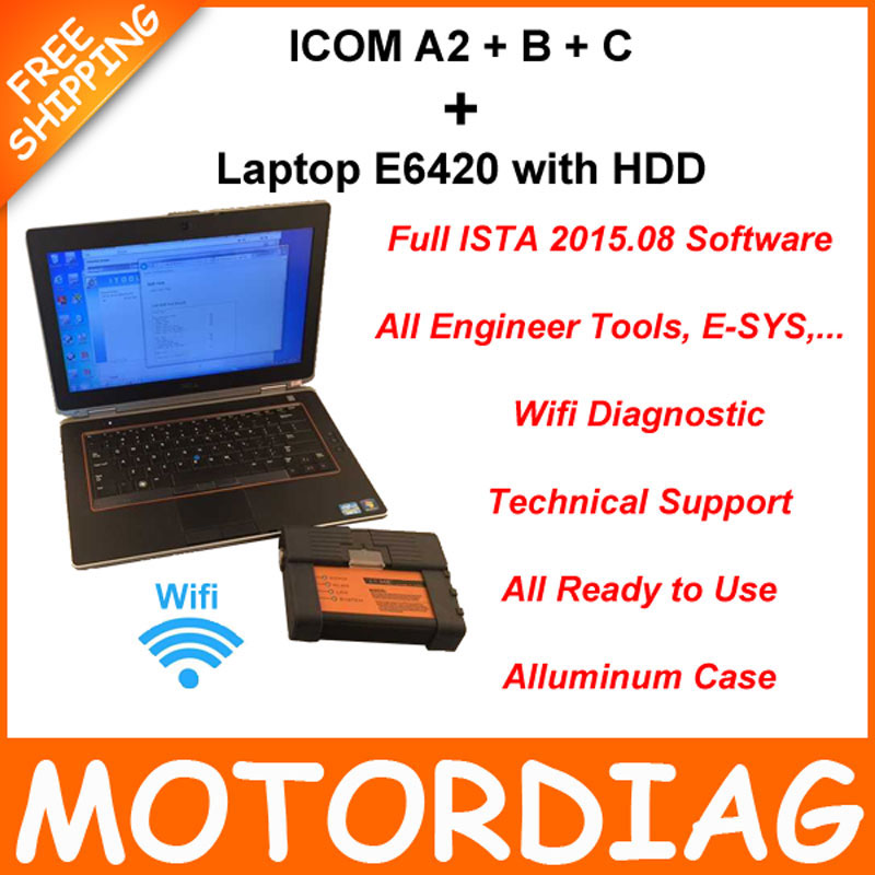 For BMW ICOM A2 B C + I5 Laptop E6420 + HDD Full Set ISTA 2015.08 For BMW ICOM A2 Best Diagnostic Tool Interface Support Wifi !!(China (Mainland))