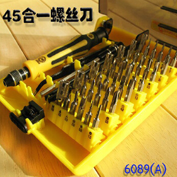 45 in 1 Notebook computer repair screwdriver combination suit iphone dismantling machine tools(China (Mainland))