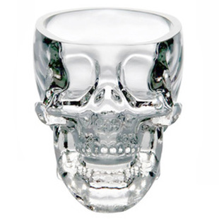 Free shipping!Novelty Crystal Skull Mug, Double Glazing Vodka Glasses,Bar Accessories, Promotional Gifts Personalized(China (Mainland))