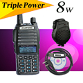 Baofeng uv82 8w version UV 82HX High power Radio Double PTT hand walkie talkie sister yaesu