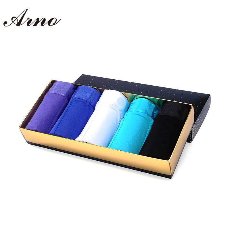 Arno 5pc/lot Wholesale Underwear Men Size M~XXL Sexy Viscose Boxers 6 Colors Men Boxer Soft Breathable Men Underwear,MTU50901-5PОдежда и ак�е��уары<br><br><br>Aliexpress