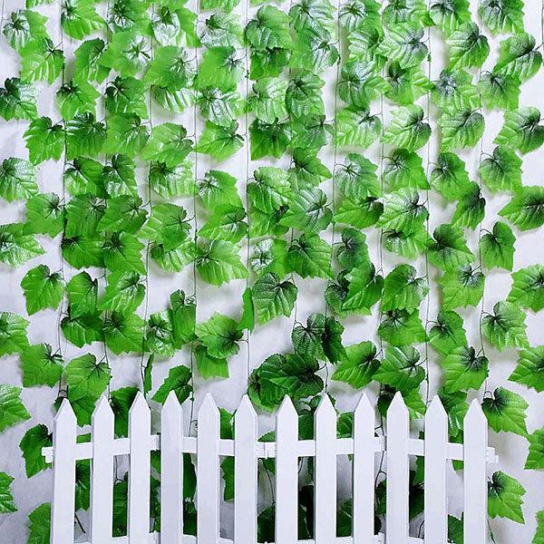 7.5 Ft Artificial Vine Grape Leaf Garland Plants Fake Foliage Flowers Home Decoration#Home(China (Mainland))