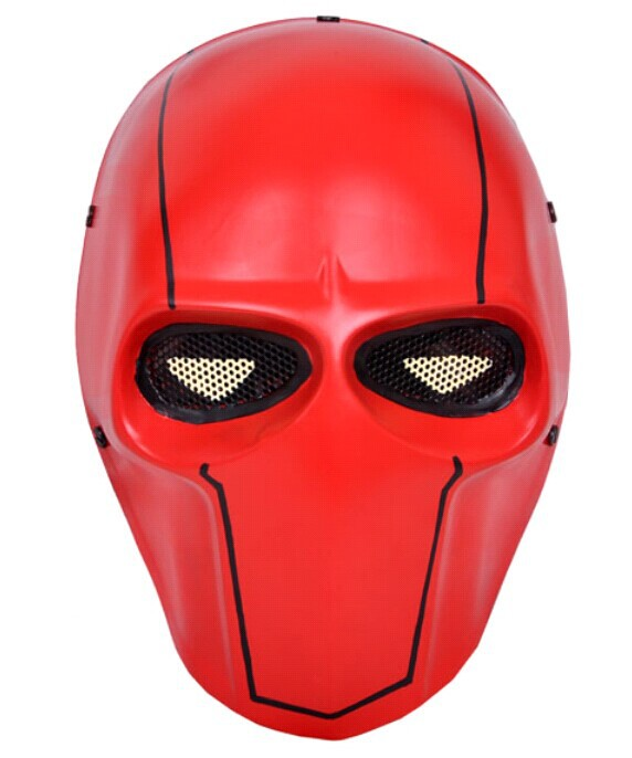FMA Paintball Airsoft Wire Mesh Army Two Biochemical Full Red Face Mask - CS Outdoor supplies stores store