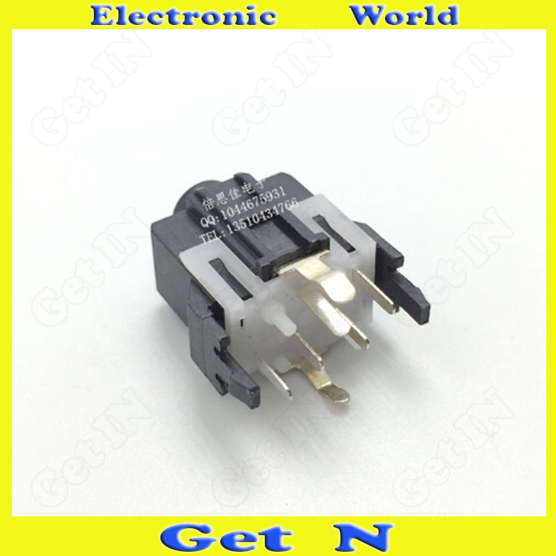 300pcs    PJ-334 7Pins 7Foot Vertical Type 3.5mm Audio Video Connectors Headphone Socket PJ334<br><br>Aliexpress