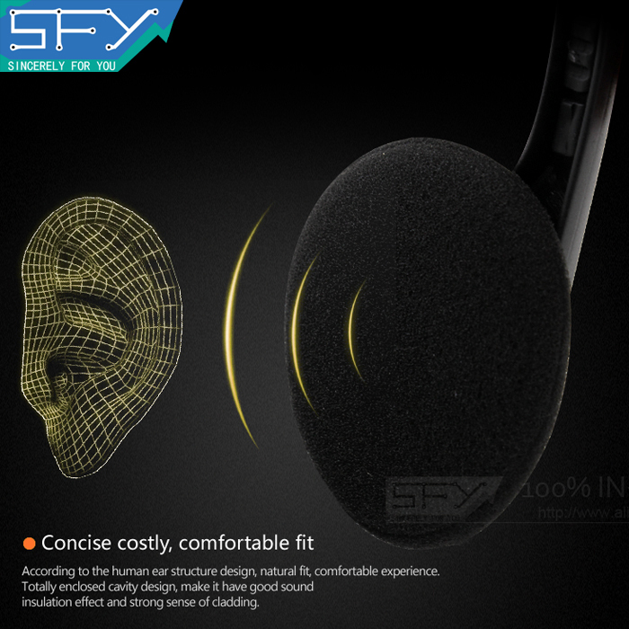 2015 NEW cheap high quality headset headphone earphone with mic microphone for computer pc H0005