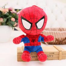 Marvel Spider-Man hero Retorna de Pelúcia Brinquedos Super hero s Homem De Ferro Batman Superman Spiderman Homem Aranha de Brinquedo de Pelúcia sofreu Boneca de Brinquedo(China)