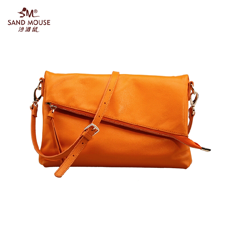 2015 Fashion Famous Brand Genuine Leather Women Bag SANDMOUSE High Quality Women Tote Handbags Women Solid Zipper Messenger Bags<br><br>Aliexpress