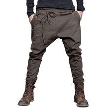men Harem Pants brand 2016 Casual Sagging pants men Trousers Drop Crotch Pant Men Joggers Feet pants hanging crotch(China (Mainland))
