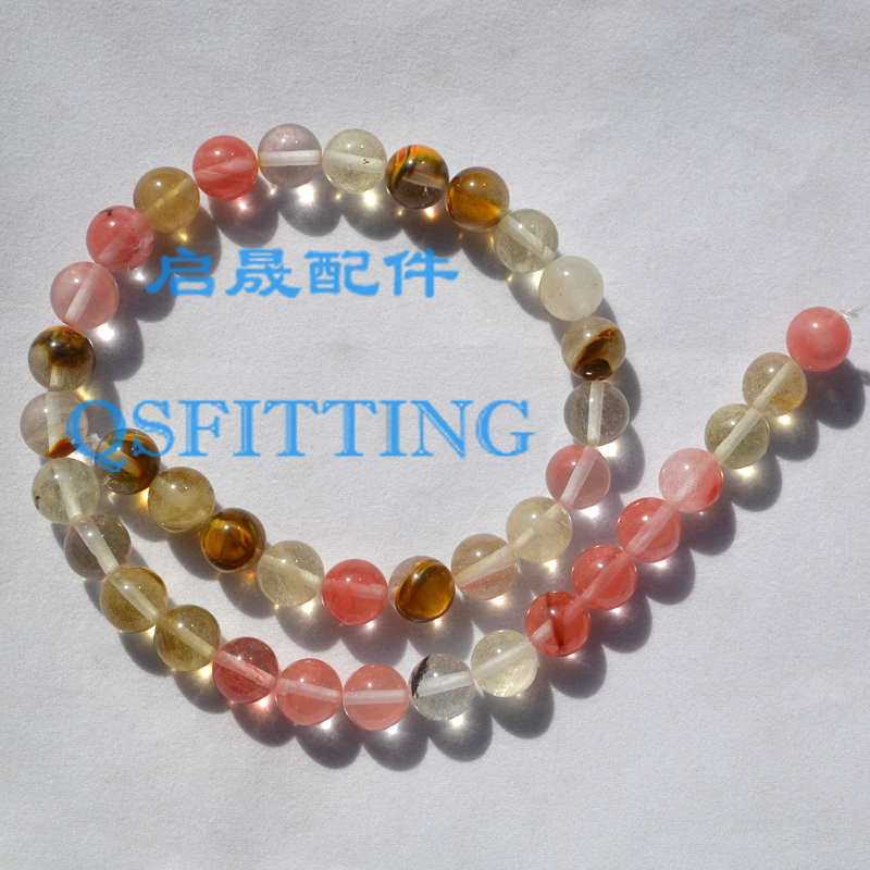 DIY fashion jewelry Accessory,8MM Nature Stone,Round Shape,Nature Crystal Powder,Pink Color(China (Mainland))