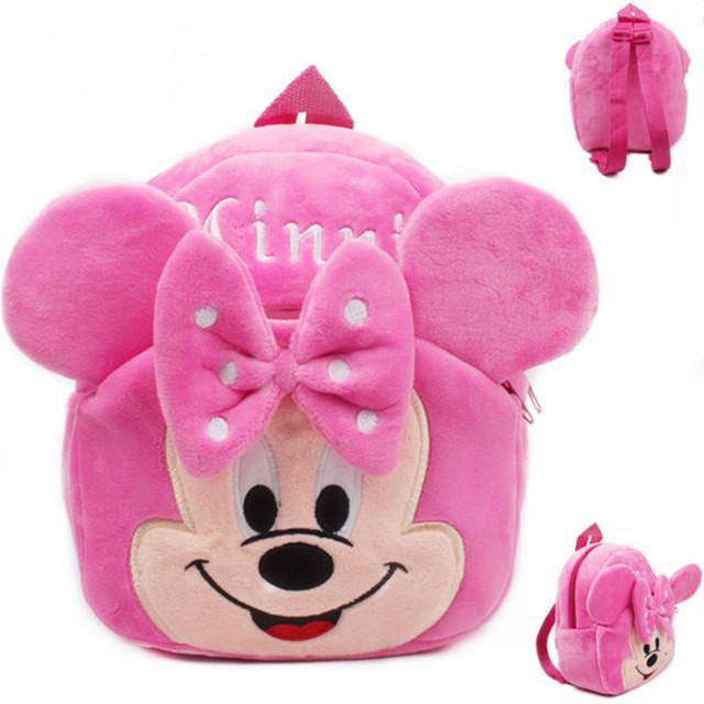 2016 новый Высокое качество минни плюшевые мультфильм игрушки рюкзак дети характер мешок подарок для детей Mochila Infantil горячая распродажа