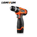 LOMVUM 16V Cordless screwdriver Lithium Battery Electric mini Drill press Motor Torsion Adjust Diagram Household screw